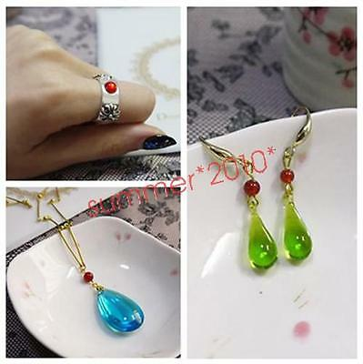 Anime Necklace and Earring Howl's Moving Castle.Cosplay.Hauru Cosplay Props Gift