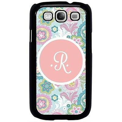 Pink Pastel Flowers Initial Letter R Case For Samsung Galaxy S3 S4 S5