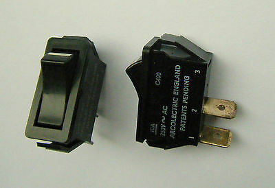 Arcolectric C400 S/P Rocker Switch 10A 250V AC Silver Plated Contacts Made U.K.