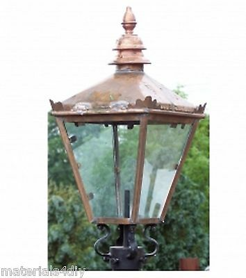 "20"" x 8"" Replacement Copper Lamp Lantern Top, Wall Bracket, Lamp Holder"