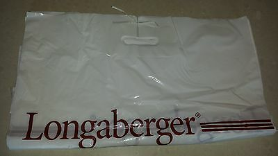 Set of 25 Longaberger Plastic Bags Delivery Bags Order bags Shopping bags MINT!