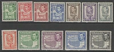 "Somaliland Sg93/104 1938 ""portrait To Left"" Mtd Mint"