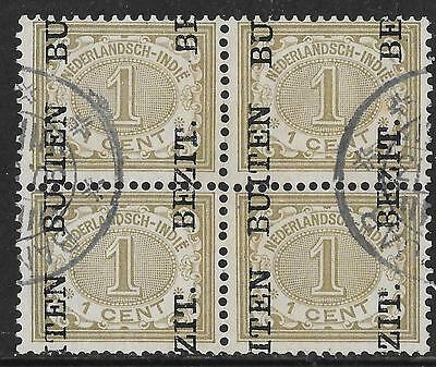 Netherlands Indies stamps 1908 NVPH 81fb  Bloc of 4  CANC  VF