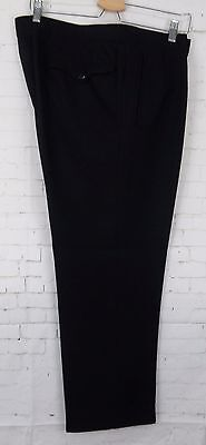 Vintage Black Pleated Tapered 1950s Wool Trousers  W38 L27 CB30