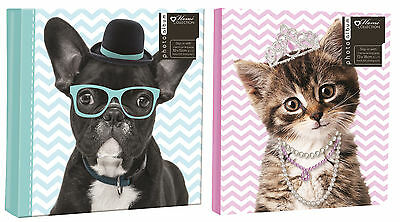 Puppy & Kitten Photo Albums Pet Dog Cat Designs 4 Sizes 10 x 15cm Or 13 x 18cm