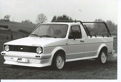 VW Volkswagen Caddy With Auto ABT Kit Original Press Photograph Circa 1980