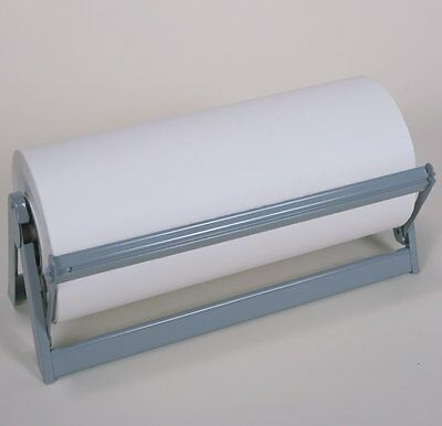 "24"" Film Roll Cutter Serrated Blade Horizontal Dispenser"