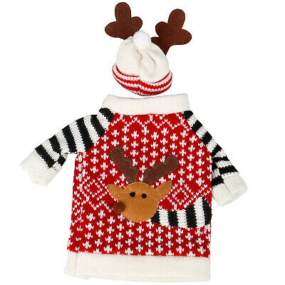 Wine Bottle Cover Reindeer Sweater  - By TRIXES