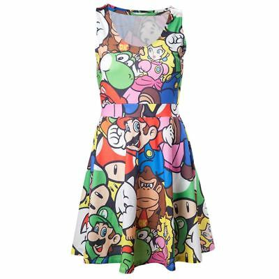 Official Womens Super Mario Bros and Friends Fashion Dress - Cosplay Ladies