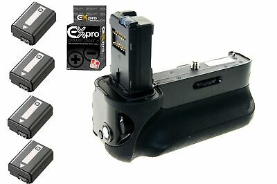 Ex-Pro Vertical Battery Grip for Sony Alpha A7 A7r A7s VG C1EM + 4x NP-FW50