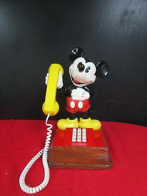 VINTAGE 1976 Mickey Mouse Phone Disney Push Button Character Telephone