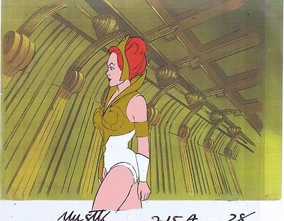 He-Man Masters of the Universe Original Animation Cel & Copy Bkgd #A11776