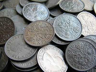 100 Choice Ef To Uncirculated Clean Shiny Sixpences Wedding Favours Wedding Gift
