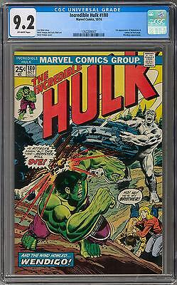 Incredible Hulk #180 CGC 9.2 (OW) 1st (cameo) Wolverine Appearance