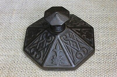Paper Weight old 1880's cast iron Victorian store desk top vintage decorated