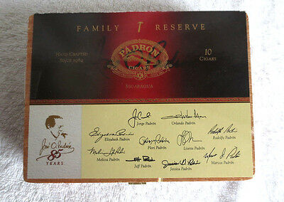 Padron Family Reserve No. 85 Maduro Wood Cigar Box  - Nice!