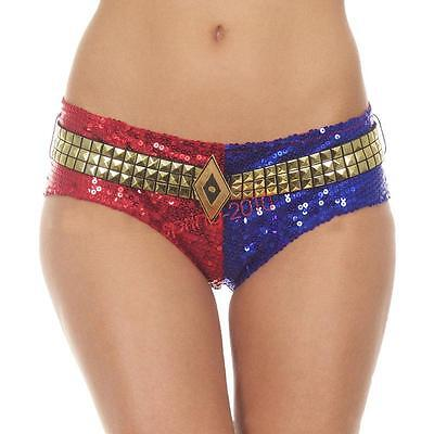 Harley Quinn Sequins Underwear Shorts Lined Pants Suicide Squad Cosplay Costume