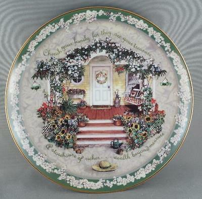 Glenna  Kurz Cherish your Family  Collector Plate Welcome Home Series