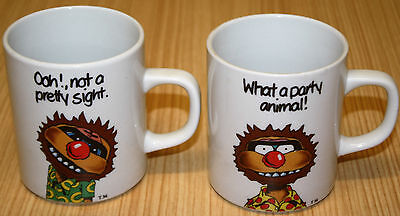 Hungry Jacks Agro Mugs x2 - What A Party Animal & Ooh Not A Pretty Sight