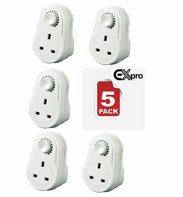 Plug in Dimmer 13A Adjustable Light Control Switch x5