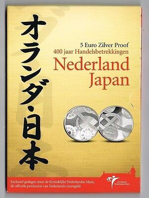 €5 Munt Zilver Proof 2009 Nederland-Japan Blister