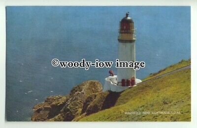 tp9493 - I.O.M.- The Maughold Head Lighthouse, up high on the Cliffs - postcard