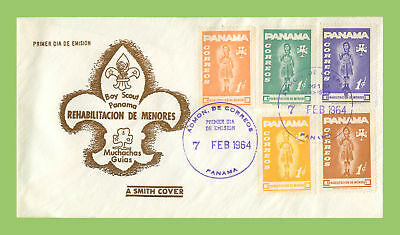 Panama 1964 Girl Guides five stamp First Day Cover