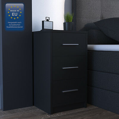 nachtkonsole nachttisch nachtkommode in wei mit glas und schublade eur 109 00 picclick de. Black Bedroom Furniture Sets. Home Design Ideas