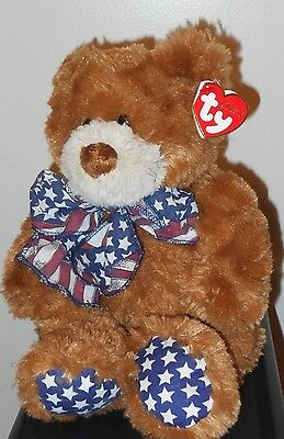 Ty Classic Plush ~ FLAGS the Bear (13 Inch) ~ MWMT'S ~ Stuffed Animal Plush Toy