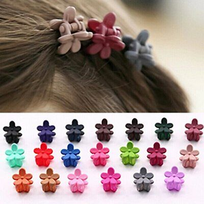 10Pcs Baby Girl Kids Hair Flower Clips Bowknot Barrettes Mini Claw Clamp Hairpin