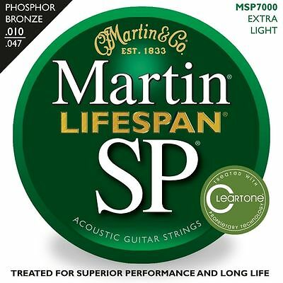 Martin 10 - 47 extra light msp7000 Acoustic Guitar Strings RRP 18.95