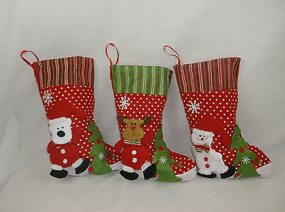 Christmas Stocking 3D Christmas Stocking Santa Reindeer Snowman Xmas Stocking