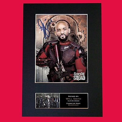 SUICIDE SQUAD Deadshot Will Smith Signed Autograph Mounted Photo Repro Print 620