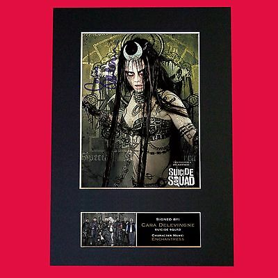 SUICIDE SQUAD Enchantress Signed Autograph Mounted Photo Repro Print 621