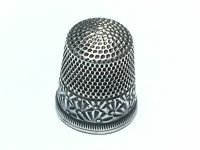 """Vintage Antique .925 Sterling Silver Thimble - Signed """"10"""" - Patina - FREE S&H"""