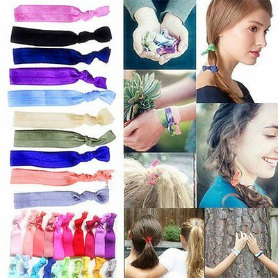 30Pcs Girl Elastic Hair Ties Rubber Band Knotted Hairband Ponytail Holder Gifts
