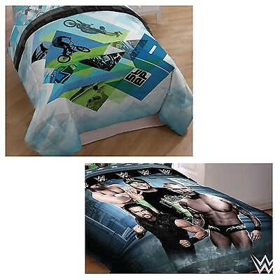 nEw SPORTS BED COMFORTER - WWE Wrestling Xgames Extreme Bedding Blanket Cover