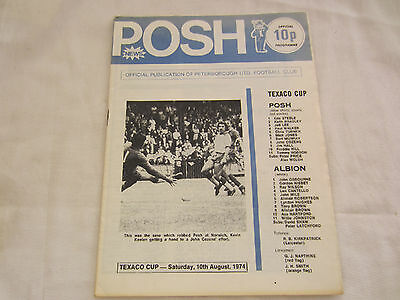 1974-75 TEXACO CUP PETERBOROUGH v WEST BROMWICH ALBION