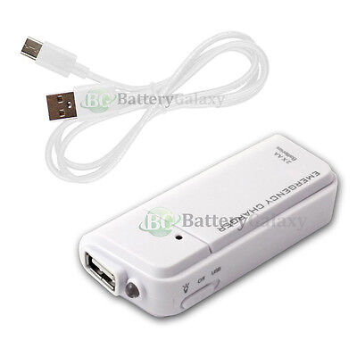 Portable Battery Charger+USB Type C Cable for ZTE Imperial Max 2 / Zmax Pro