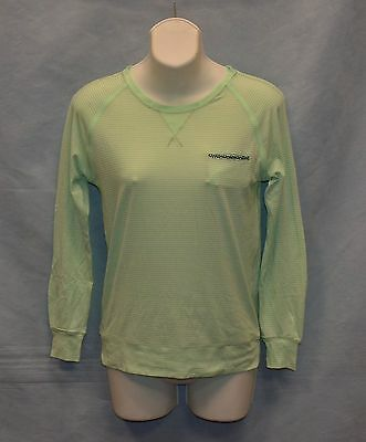 A3 Auth LULULEMON Athletica Light Green Striped Long Sleeve Pocket Top Size 6