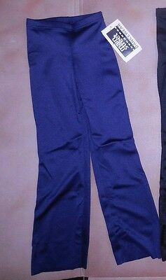 NWT Bootcut Matte Spandex NAVY Jazz Pants Wolff Fording 86002 Ch/Ladies