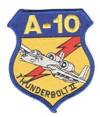 """USAF Air Force Patch:   A-10 Thunderbolt II (aircraft) - 3 1/2"""""""