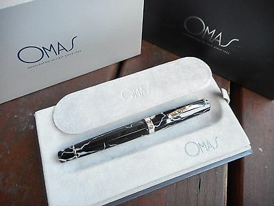 Omas Milord Wild Ht Trim Celluloid Rollerball