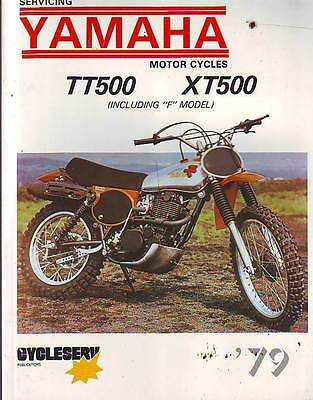 Yamaha Xt500 Tt500 Xt500F Tt500F  Workshop Manual 1979  Aust New Zealand