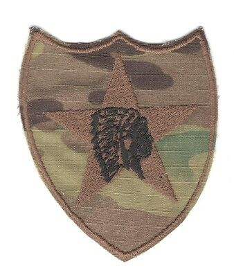 Army Patch:   2nd Infantry Division, reversed - multicam, theater made