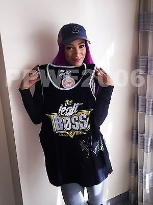 Wwe Sasha Banks Hand Signed Legit Boss T Shirt With Exact Picture Proof & Coa 4