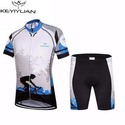 KEYIYUAN Kids Cycling Jersey Ropa Ciclismo Manches Courtes Vélo Jersey Set S-XXL
