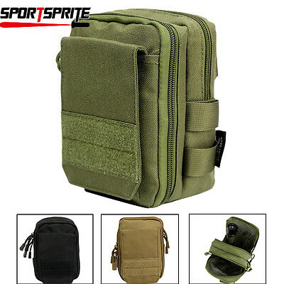 Tactical Molle Pouch EDC Utility Sports Waist Bag with Cell Phone Holster Holder