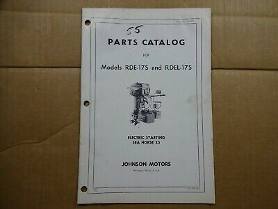 1958 JOHNSON OUTBOARD Parts Catalog Manual 35 HP RDE RDEL