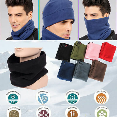 3in1 Winter Warm Thermal Fleece Scarf Snood Neck Warmer Face Mask Beanie Hat